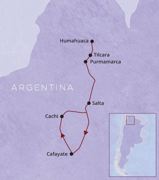 Argentina Northwest Map
