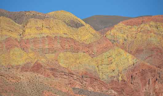 Purmamarca seven coloured mountains