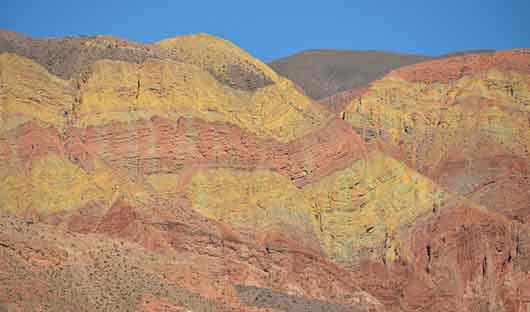 Purmamarca seven coloured mountains