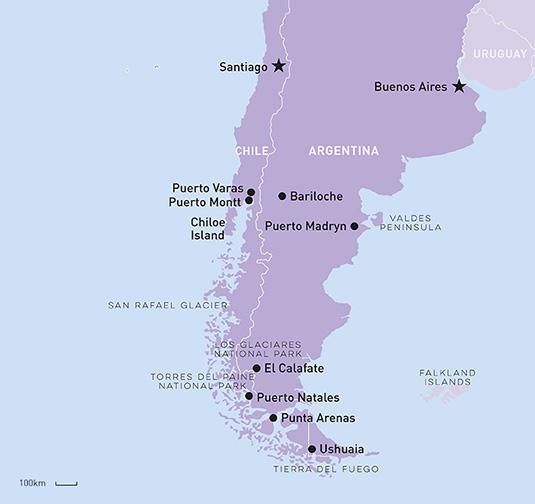 Patagonia region map