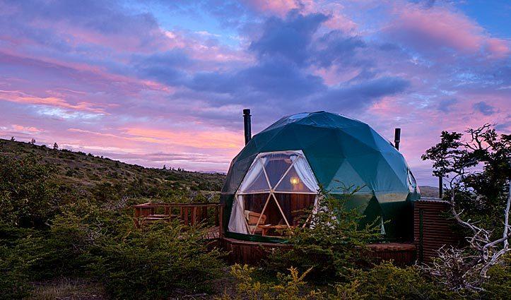 Cascada EcoCamp dome in Patagonia Chile