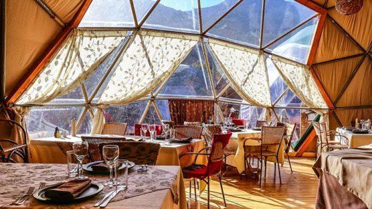 Dining Room Cascada Ecocamp