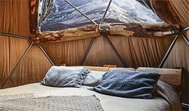 Standard Dome, Cascada Eco Camp, Patagonia, Chile