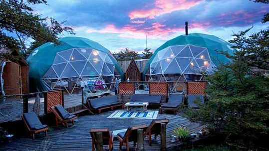 sunset ecocamp main dome