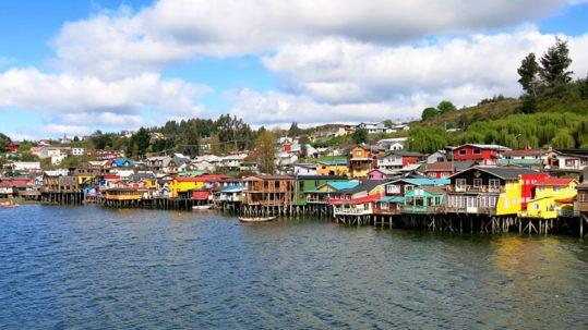 Chiloe Island Colourful Houses