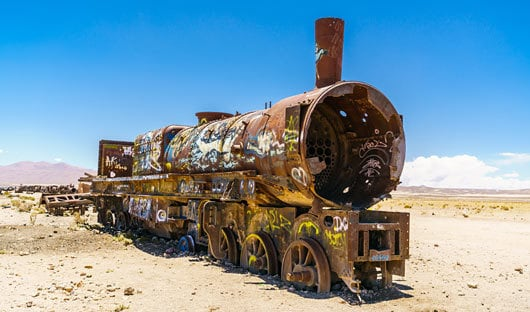 Train Graveyard Bolivia