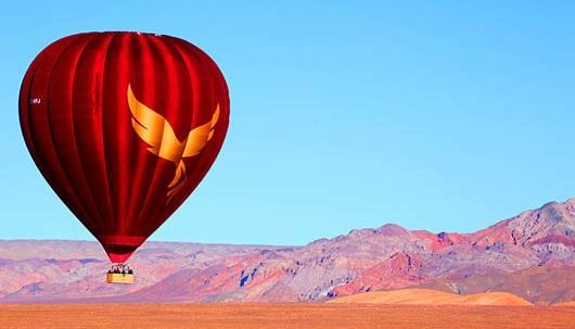 Hot Air Balloon over Moon Valley Atacama Desert