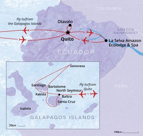 Galapagos Quito and Amazon Private Tour