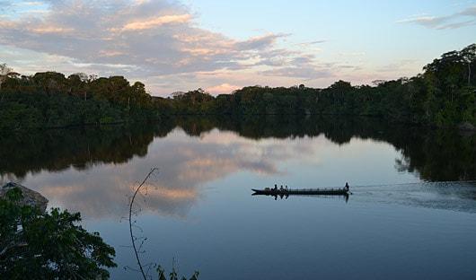 La Selva, Ecuador, Amazon Canoe Ride