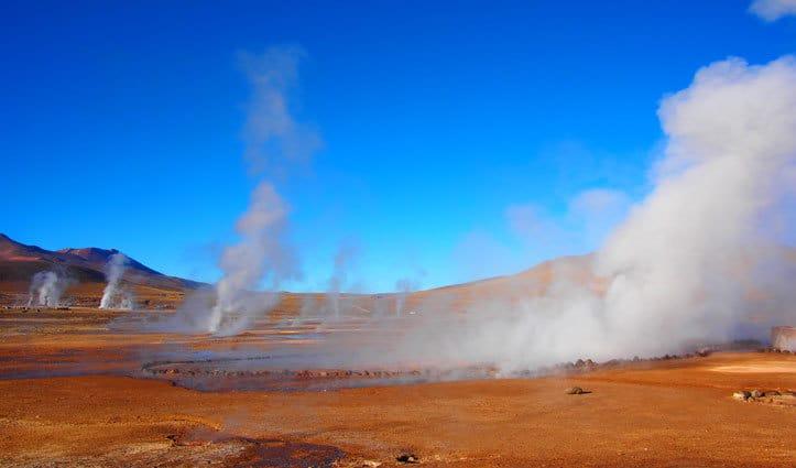 geysers in Atacama Desert