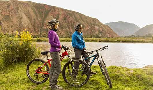Bike riding Sacred Valley
