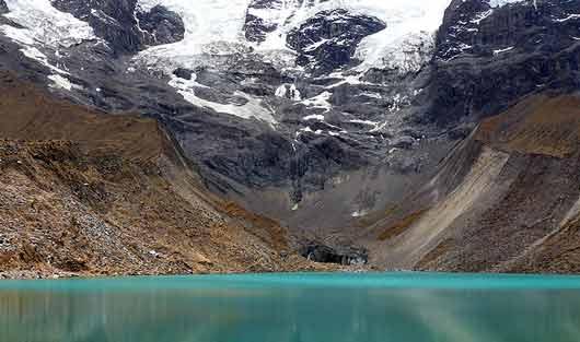salkantay-lodge-trek-day-2-lake-humantay