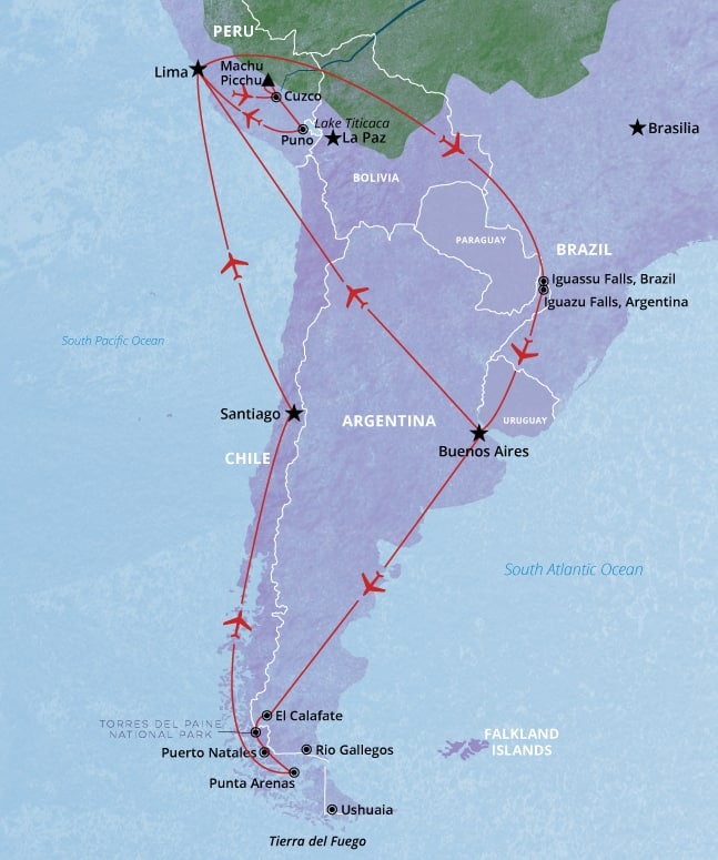 South America 29 day tour