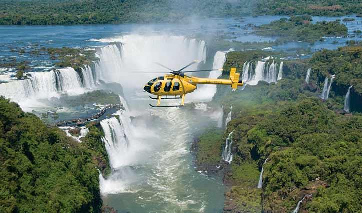 Helicopter tour Iguassu Falls