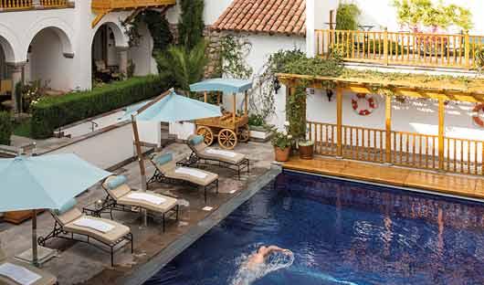 Belmond Palacio Nazarenas pool, Cusco, Peru