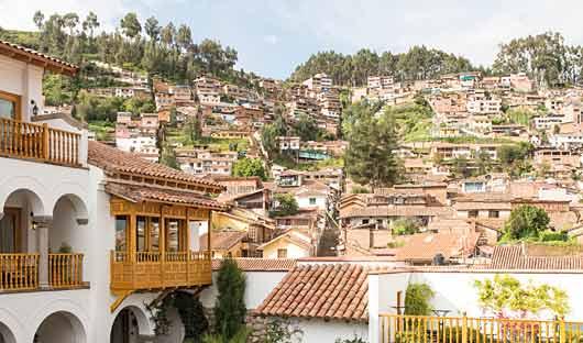 Belmond Palacio Nazarenas view, Cusco, Peru