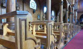 Church interior Chiloe