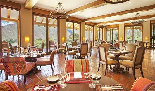 Dining room Inkaterra Hacienda Urubamba