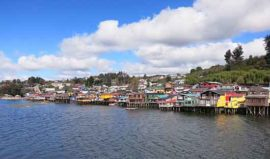 Houses on stilts Chiloe, Chile