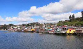 Houses on stilts Chiloe, Chile