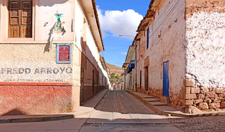 Town in the Sacred Valley, Peru