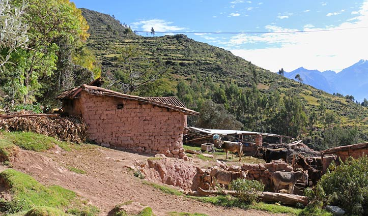 Walking down to Moray Ruins Sacred Valley