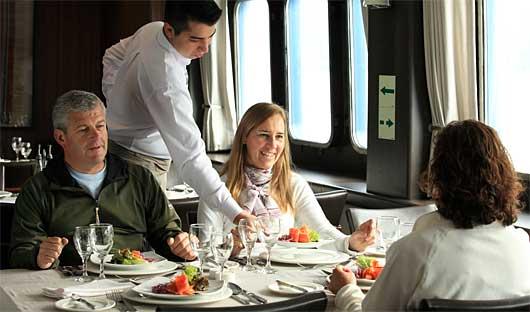 Australis Dining, Patagonia Cruise