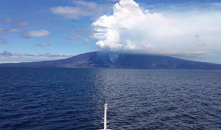 Fernandina Island Volcano from La Pinta Metropolitan