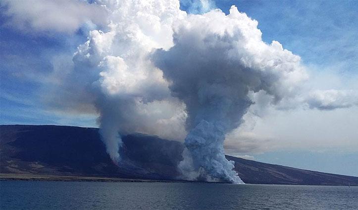 Fernandina volcano Eruption Galapagos Metropolitan