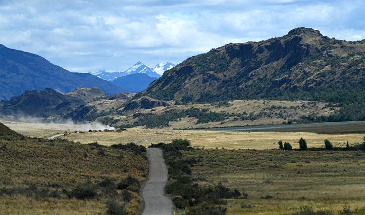Road through aisen region Chile