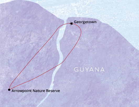 Guyana-Birding-Tour-Map