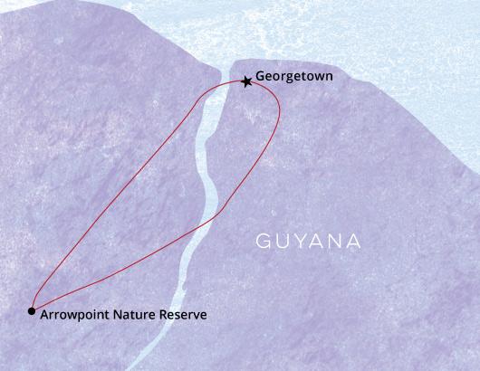 Guyana-Birding-Tour-Map
