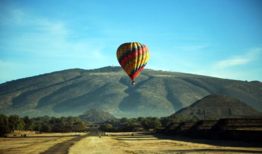 Hot Air Balloon Teotihuacan Journey Mexico