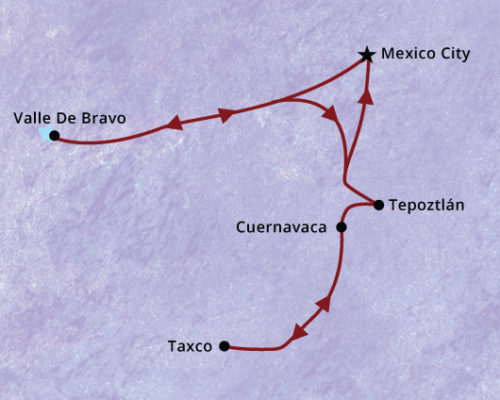 Mexico-Itinerary-Map- Country Escapes