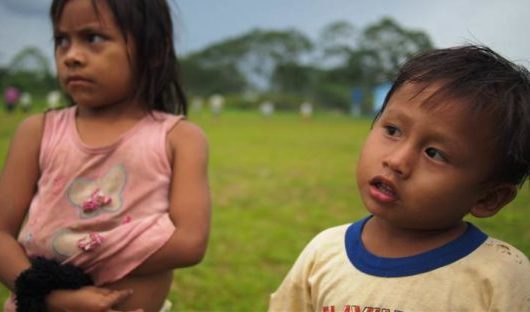 Local village people peruvian amazon