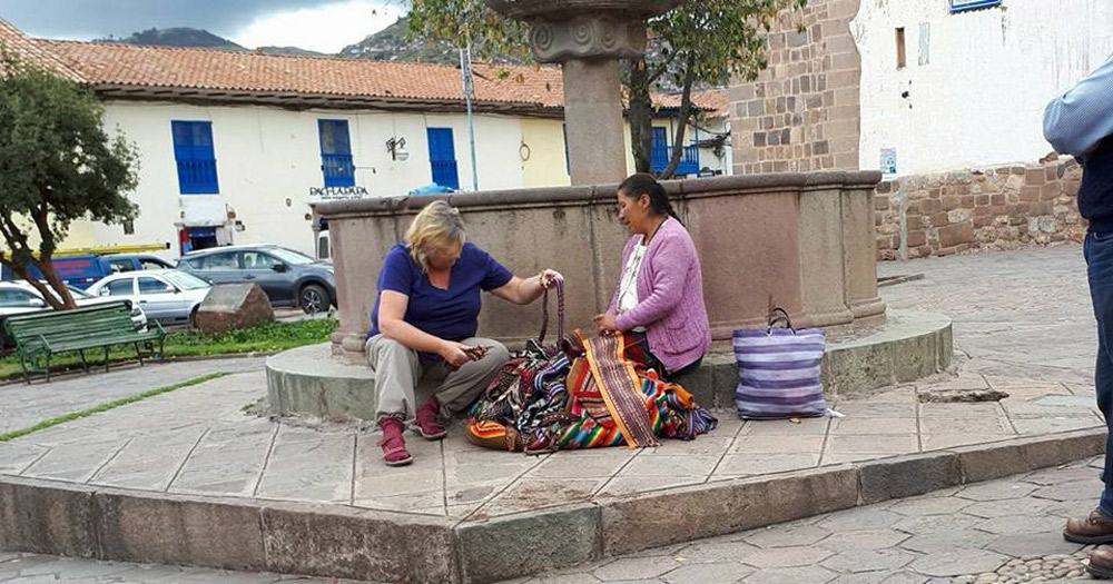 Peruvian Shopping-Cusco by Ellaine-Pulleine