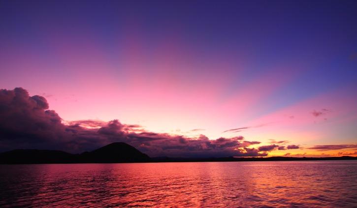 Sunset onboard the MV Grace
