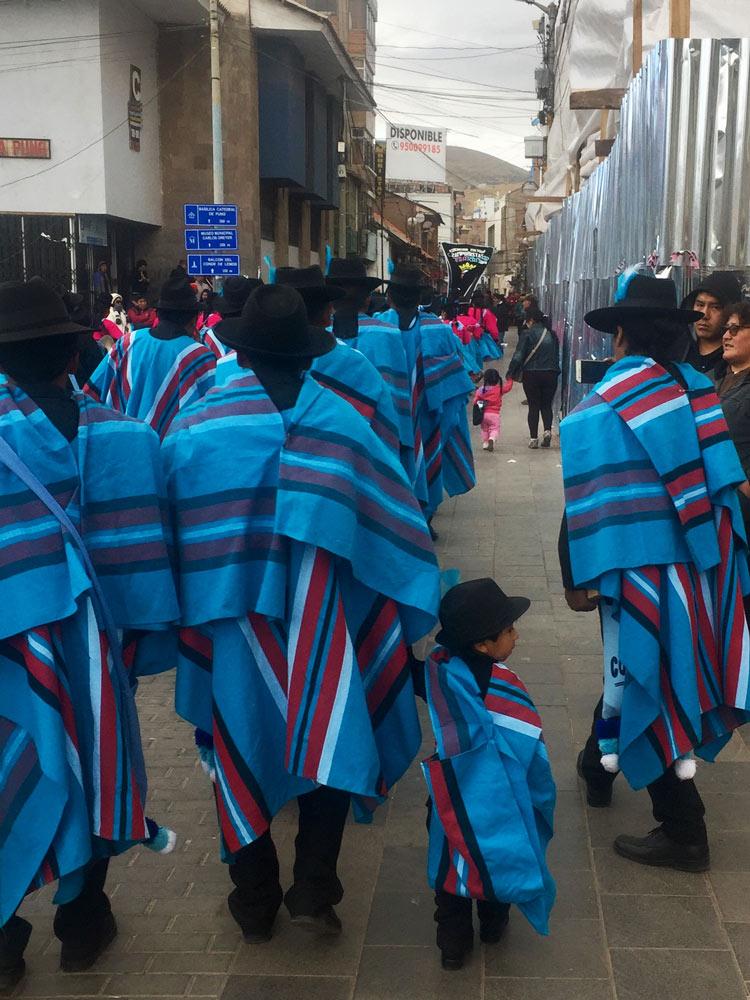 Puno Peru Locals by Helen Ferguson