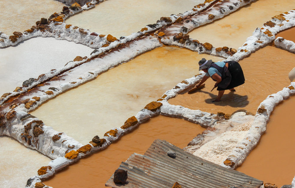 Salt ponds of Maras- Peru by Michelle Feros