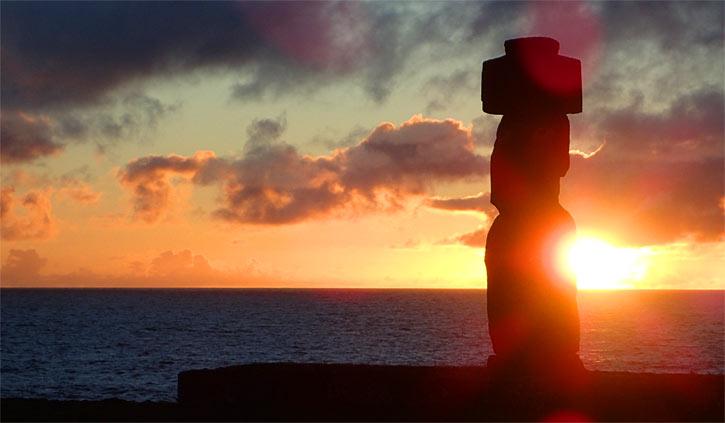Sunset Easter Island (Rapa Nui)