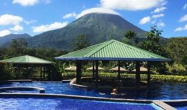 Arenal Manoa Hotel Pool with Volcano View