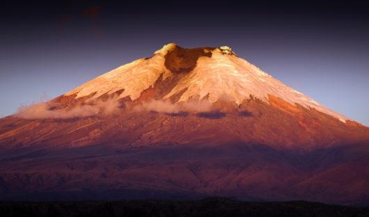 Cotopaxi at Sunset, taken from the Hacienda near Latacunga, Ecuador by Adam Fry