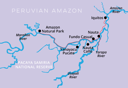 Peru-Amazon Cruise Delfin I, 5 Days