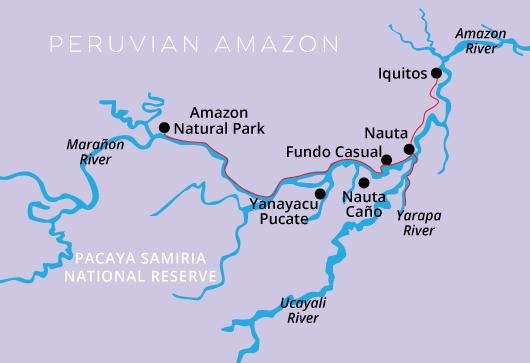 Peru-Amazon Cruise Delfin I, 5 Days