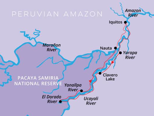 Aqua Nera 4 Day High Water Itinerary