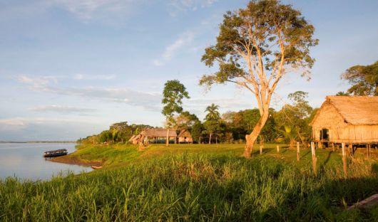 Village in Low Water Season