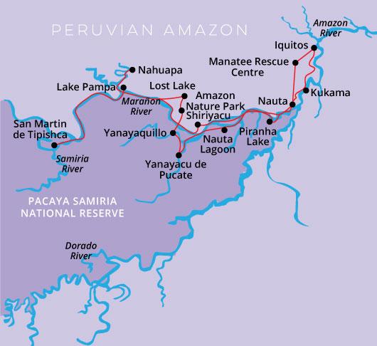 Peru Amazon Cruise Zafiro 5day 4night