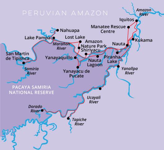 Peru Amazon Cruise Zafiro 8day 7night