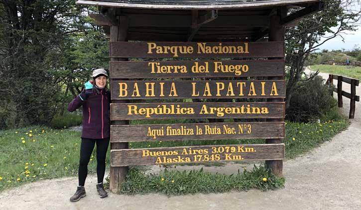 Sign Tierra Del Fuego, Ushuaia day tours