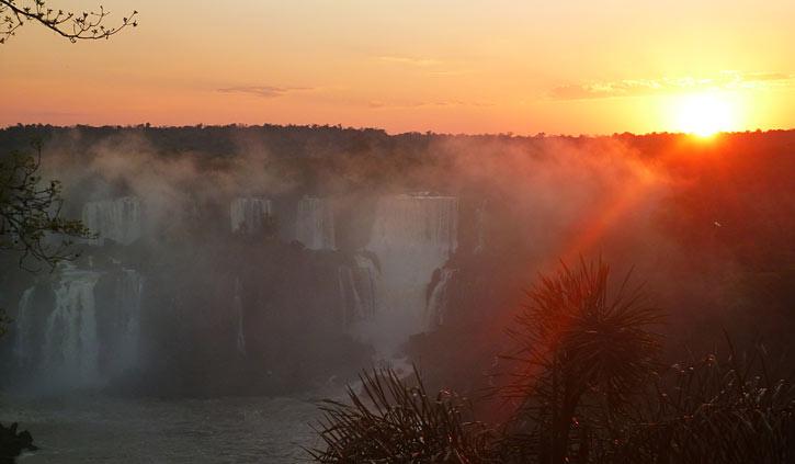 Sunset Iguazu Brazil